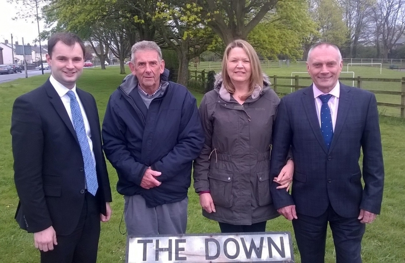 right is; Luke Hall MP, Cllr David Chubb, Local Campaigner Karen Blick and Alveston Cllr Steve Blick.