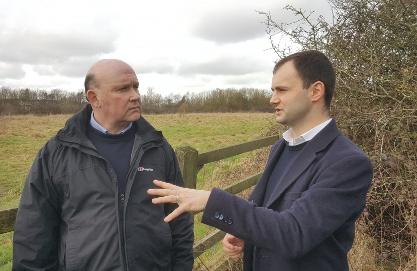 Luke and Tim at the proposed Buckover site