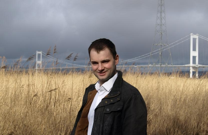 Luke Hall MP and the Severn Bridge