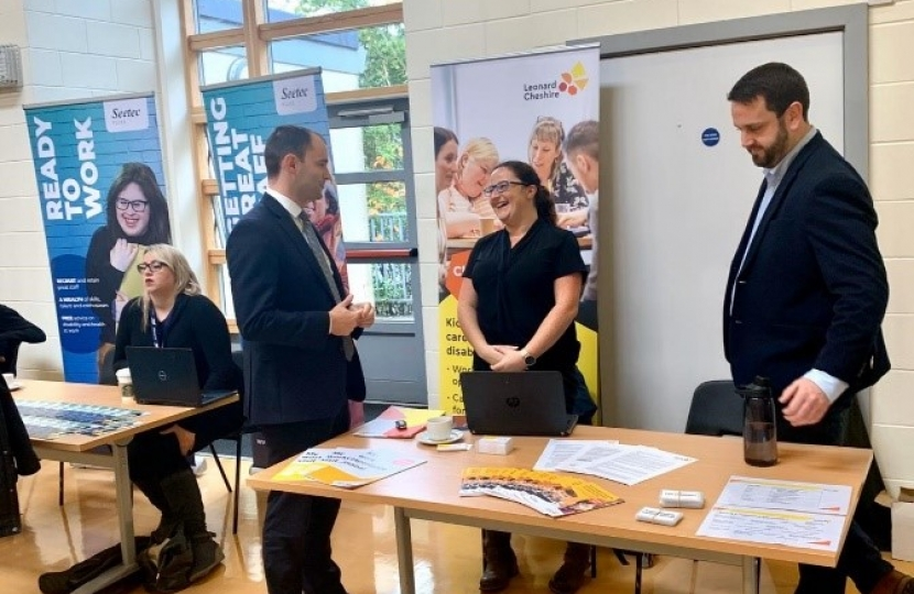 Luke Hall MP Jobs Fair