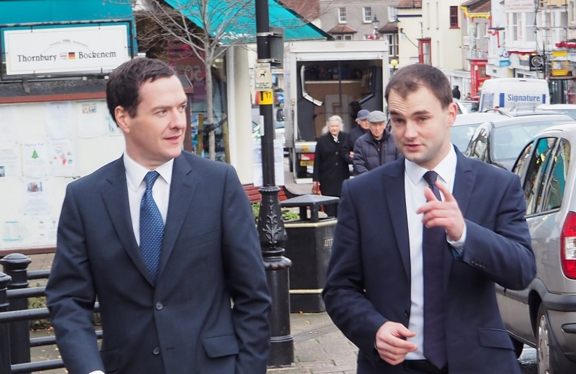 Luke Hall MP shows the Chancellor around the constituency